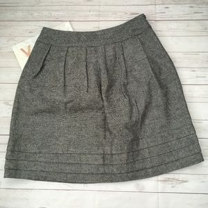 marks & spencer womens 12 a-line skirt grey tweed